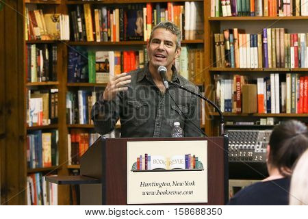 HUNTINGTON, NY-NOV 16: Andy Cohen speaks before signing copies of his book