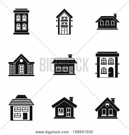 Residence icons set. Simple illustration of 9 residence vector icons for web
