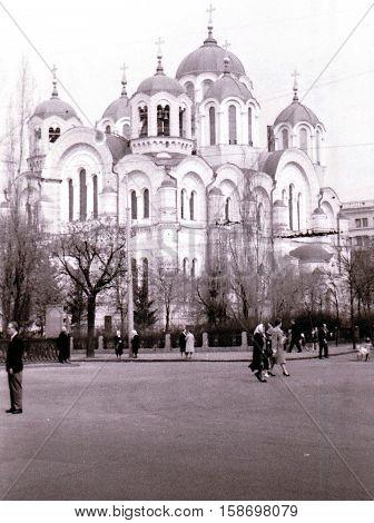 Kiev Ukraine - May 1964 :St. Volodymyr's Ukrainian Orthodox Cathedral.