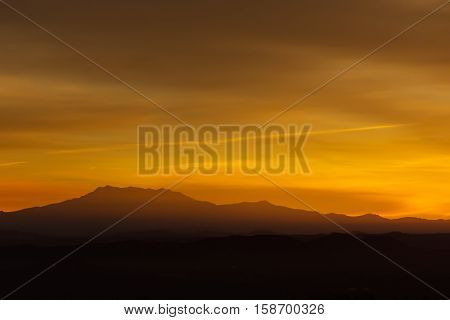 Mount Baldy at sunrise from Chino Hills