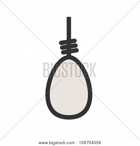 Cowboy, wild, noose icon vector image. Can also be used for wild west. Suitable for mobile apps, web apps and print media.