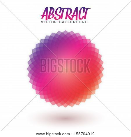 Illustration of Abstract Spectrum Flower. Colorful Vector Spirograph