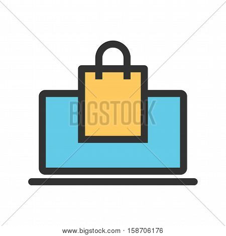 Web, ecommerce, solution icon vector image. Can also be used for startup. Suitable for use on web apps, mobile apps and print media.
