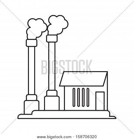 industrial factory buiding pollution symbol pictograph vector illustration eps 10