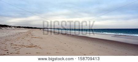 Hawks Nest beach at sunset (Central Coast NSW Australia)