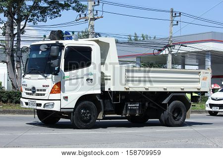 CHIANG MAI THAILAND - OCTOBER 27 2016: Private Hino Dump Truck. Photo at road no.1001 about 8 km from downtown Chiangmai thailand.