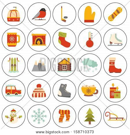 Vector Winter Cartoon Icons