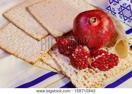 Rosh Hashanah Jewish Holiday Matzoh  Passover Bread Torah