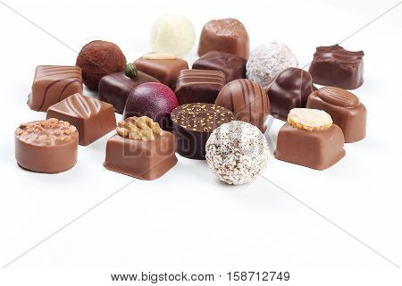 Assortment Of Chocolate Candies And Pralines