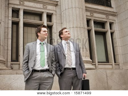Optimistic Young Businessmen