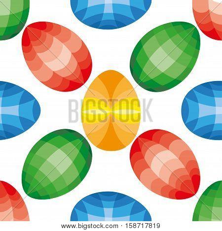 Beautiful Easter Egg Seamless Pattern Background Illustration