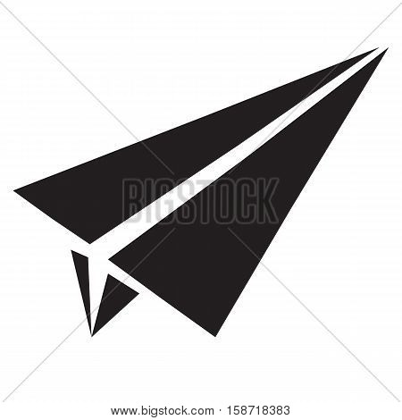 paper airplane flat icon. paper airplane sign.