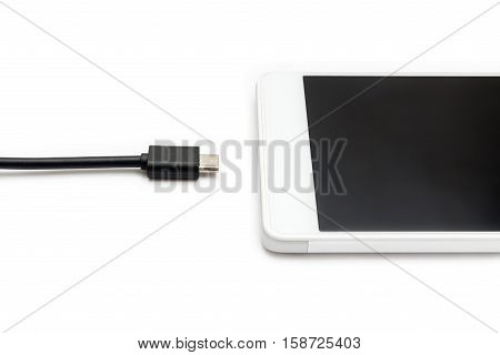 Smartphone And Data Cable Disconnected