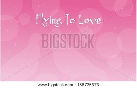 Background Valentine with dove illustration collection stock