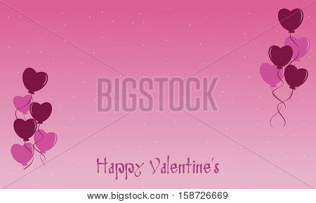Vector flat of Valentine backgrounds collection stock