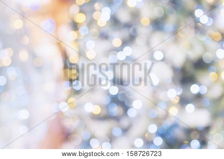 Colorful circles of blue and yellow light abstract background