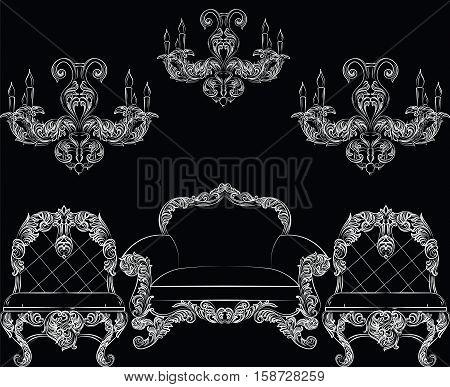 Baroque Luxury Style Furniture Set