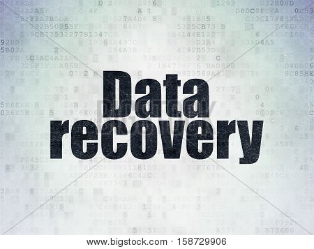 Data concept: Painted black word Data Recovery on Digital Data Paper background