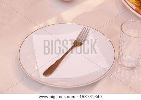 Table appointments in restaurant
