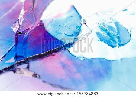 Ice texture background ink in water pattern frost. Crystal winter design