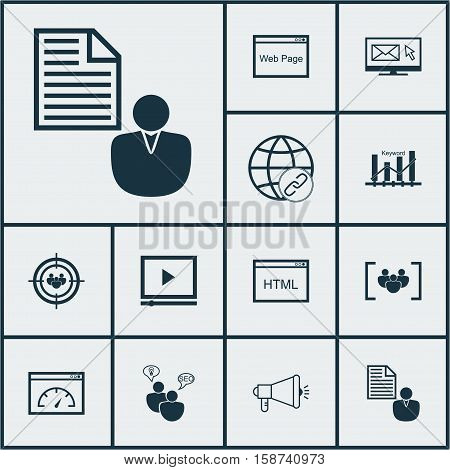 Set Of Marketing Icons On Coding, Loading Speed And Connectivity Topics. Editable Vector Illustration. Includes Link, Marketing, HTML And More Vector Icons.