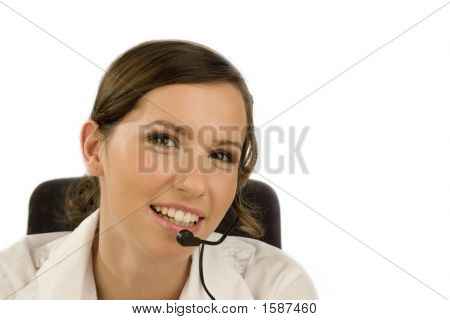 Young Woman In Call-Center