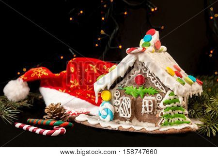 Gingerbread House. Christmas Holiday Sweets. European Christmas Holiday Traditions.