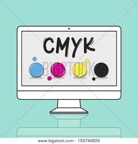 CMYK Creative Design Color Ink Mixture Printing
