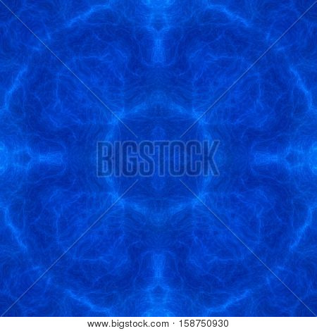 Bright deep royal blue abstract infinity circle spiritual esoteric background picture
