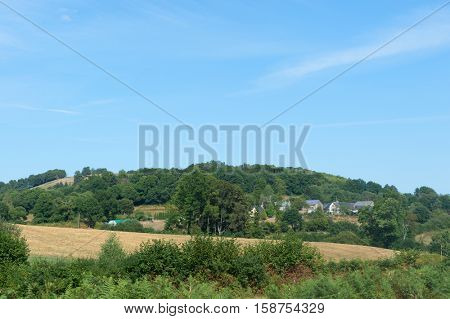 A little hamlet in the hills of France