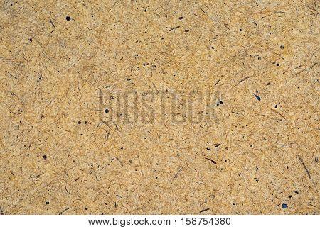 Plywood warm hardboard background texture. Close up