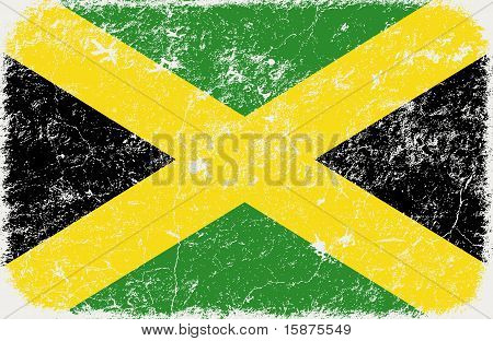 vector grunge styled flag of Jamaica