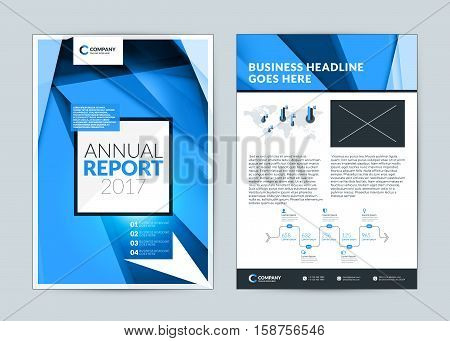 Annual Report Cover Design Template. Vector Flyer Design Template. Cover Layout Design With Abstract