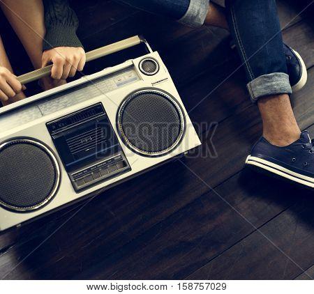 Stereo Media Equipment Radio Concept