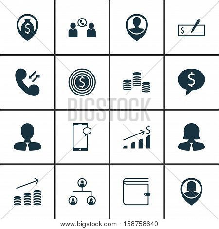 Set Of Human Resources Icons On Manager, Wallet And Tree Structure Topics. Editable Vector Illustration. Includes Stacked, User, Goal And More Vector Icons.