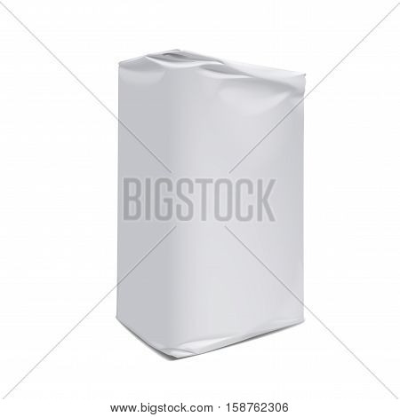 Template packaging for flour and other bulk products on a white background. Mock up for Your Design. Vector illustration.