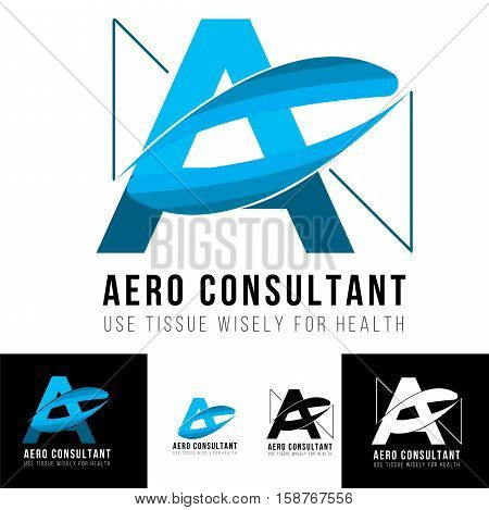 a letter logo with shape of drops water for consulting, contractor or any professional business area