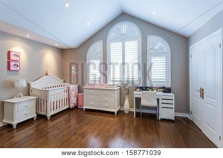 Children living room interior design for girls