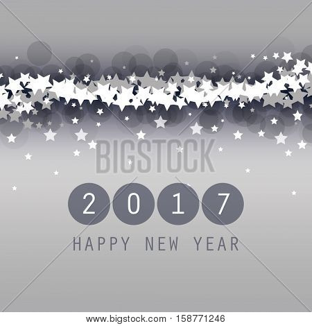 New Year Card, Cover or Background Design Template - 2017