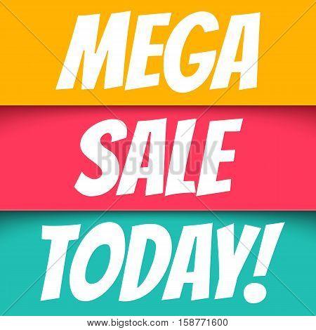 Mega sale. Banners for big season sale.