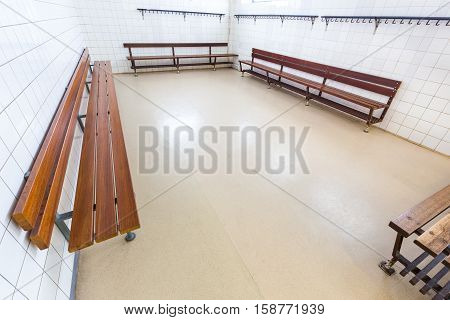 European group dressing room on secondary school
