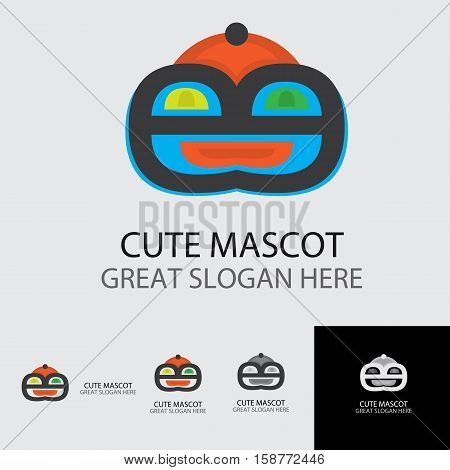 cute mascot that have cute look suitable for cake and bakery logo mascot concept