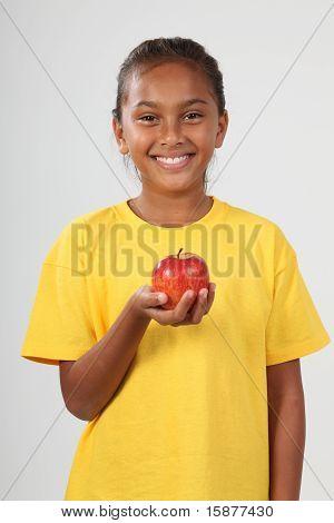 An apple from little girl