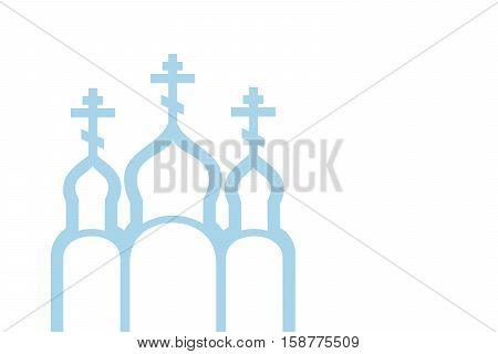 Vector illustration of Orthodox Church vector eps 10 background
