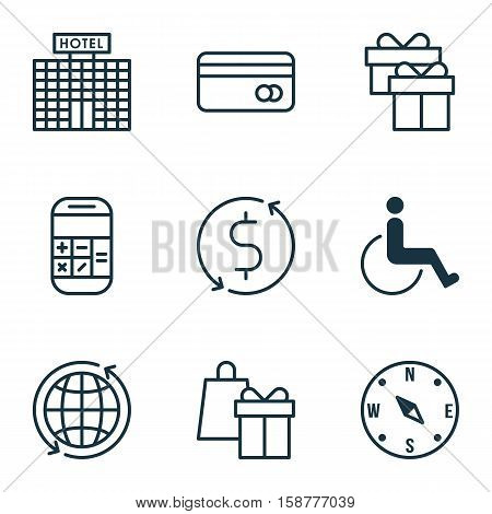 Set Of Transportation Icons On Accessibility, Calculation And Shopping Topics. Editable Vector Illustration. Includes Box, Dollar, Calculation And More Vector Icons.