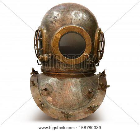 photo Copper old vintage deep sea diving suit