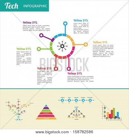 tech infographic for technology business or internet based