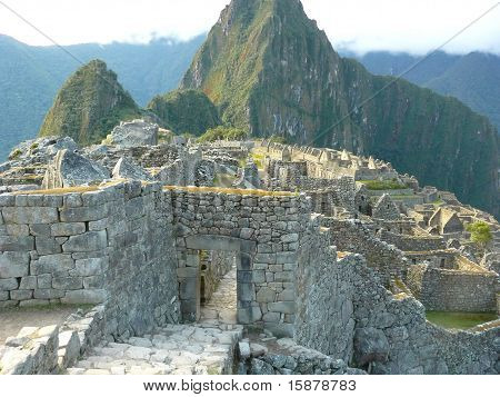 Machu Picchu - the ancient Inca city, located on the territory of modern Peru poster
