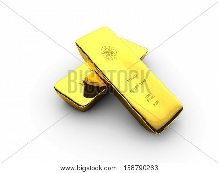 Illustration Of Gold Bars Concept For Biussness Isolated Background