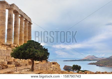 Temple Of Poseidon At Cape Sounion Attica Greece